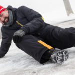 winter slip and fall accident on snow and ice