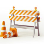 Construction cones and barrier